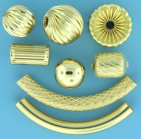 Gold filled plain round beads at Crystal Findings